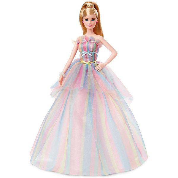 """Mattel Коллекционная кукла Barbie """"Пожелания ко дню рождения"""" в радужном платье"""
