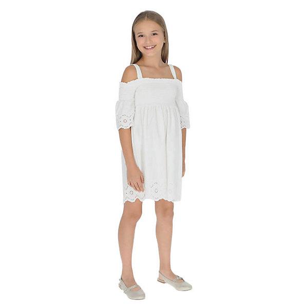 Купить Платье Mayoral, Турция, белый, 152, 167, 162, 140, 157, Женский