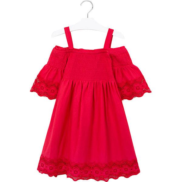 Купить Платье Mayoral, Турция, красный, 167, 140, 162, 152, 157, Женский