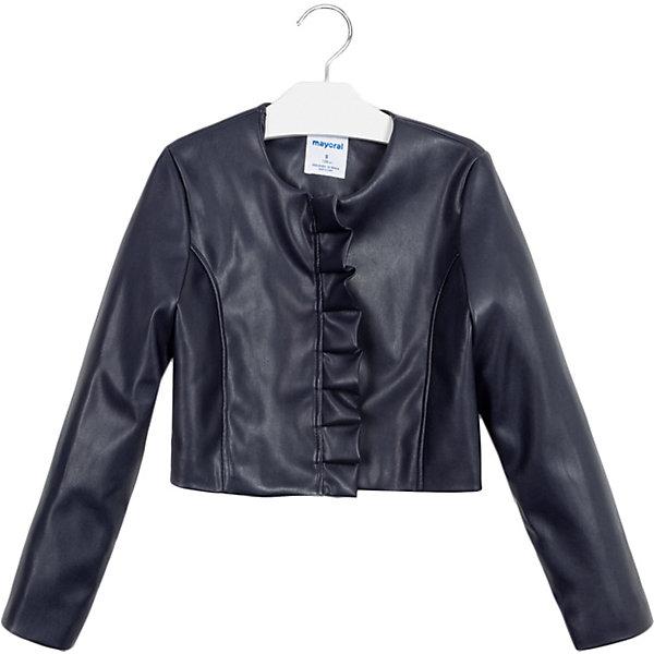 Кожаная куртка Mayoral фото