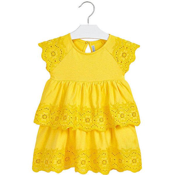 Купить Платье Mayoral, Турция, желтый, 98, 116, 110, 92, 122, 104, Женский