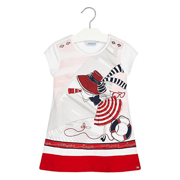 Купить Платье Mayoral, Турция, красный, 110, 92, 116, 128, 98, 134, 122, 104, Женский