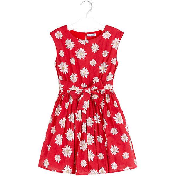 Купить Платье Mayoral, Китай, красный, 128, 152, 140, 157, 162, 167, Женский
