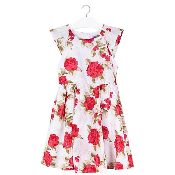 Купить Платье Mayoral, Китай, красный, 152, 157, 140, 162, 128, Женский