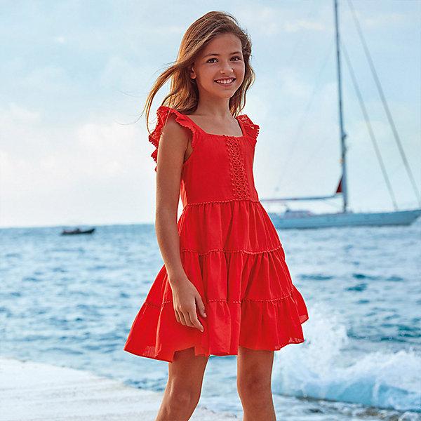Купить Платье Mayoral, Индия, оранжевый, 128, 140, 167, 152, 162, 157, Женский