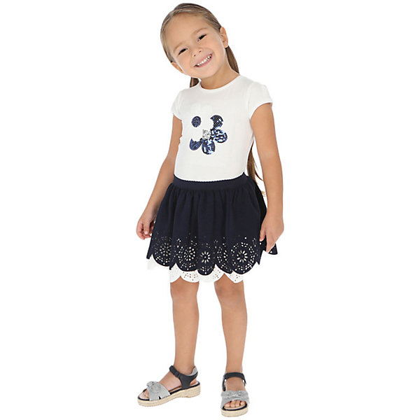 Купить Комплект Mayoral: футболка и юбка, Китай, темно-синий, 122, 110, 134, 116, 104, 92, 98, 128, Женский