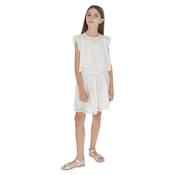 Купить Платье Mayoral, Китай, бежевый, 162, 128, 157, 140, 152, Женский