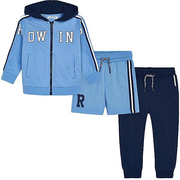 Купить Спортивный костюм Mayoral, Китай, голубой, 134, 116, 98, 122, 110, 92, 104, 128, Мужской