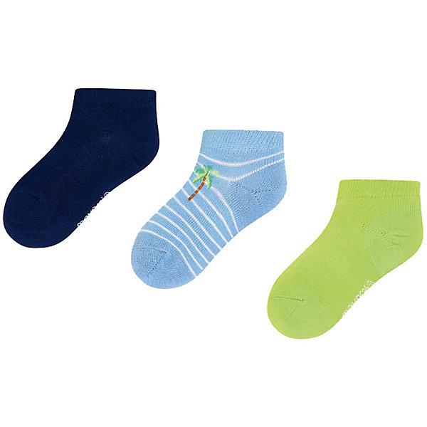 Купить Укороченные носки Mayoral, 3 пары, Китай, зеленый, 33-35, 38/39, 37/38, 24-26, 35/36, 36/37, 30-32, 27-29, Мужской