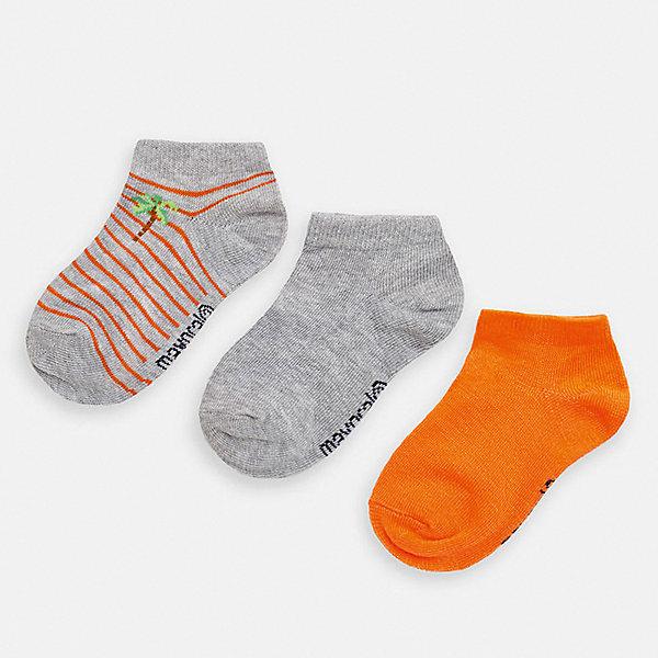 Купить Укороченные носки Mayoral, 3 пары, Китай, оранжевый, 30-32, 27-29, 38/39, 33-35, 37/38, 36/37, 35/36, 24-26, Мужской