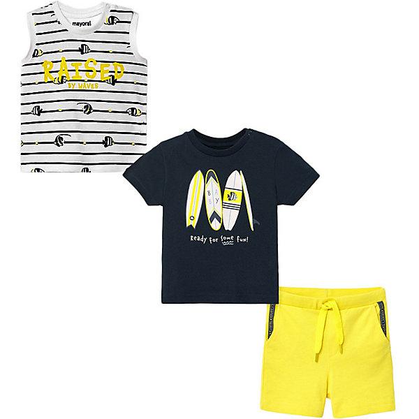 Mayoral Комплект Mayoral: футболка, майка и шорты mayoral шорты для мальчика mayoral