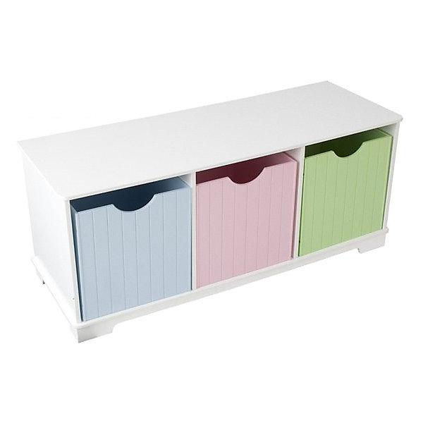 Скамья с ящичками для хранения KidKraft Storage Bench Pastel