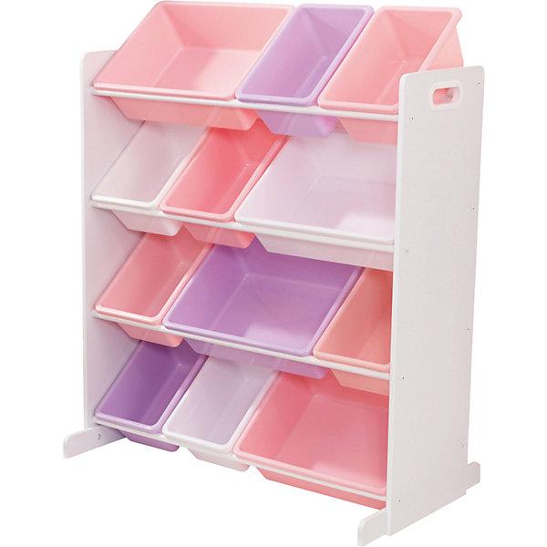 KidKraft Система для хранения с 12 контейнерами KidKraft, белая ящик для хранения kidkraft austin toy box vanilla ваниль 14958 ke