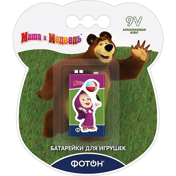 Фотон Батарейка Фотон Крона (6LR61) Маша и Медведь батарейка фотон lr6 вp4 маша и медведь 4 шт