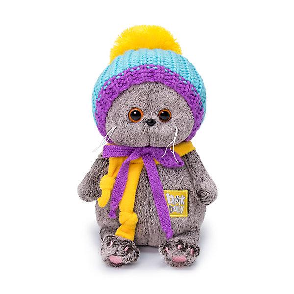 Купить Мягкая игрушка Budi Basa Кот Басик baby в вязаной шапке, 20 см, Россия, коричневый, Унисекс