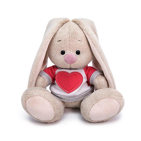 Budi Basa Мягкая игрушка Budi Basa Зайка Ми в белой толстовке с сердцем, 15 см
