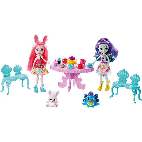 Mattel Игровой набор Enchantimals Чаепитие Пэттер Павлины и Бри Кроли игровой набор металлической посуды чудесное чаепитие melala