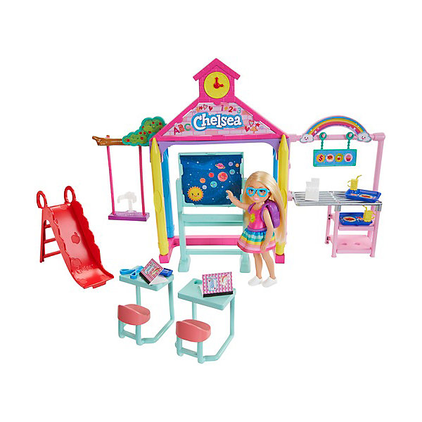цена на Mattel Игровой набор Barbie Челси в школе