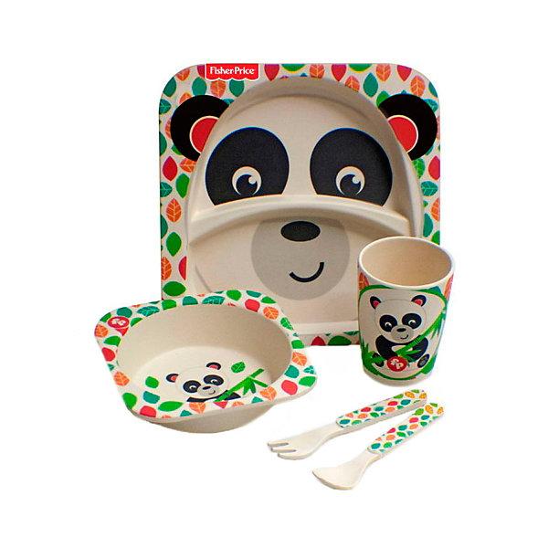 Mattel Набор детской бамбуковой посуды Fisher-Price Панда