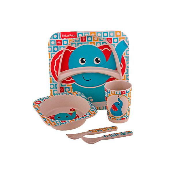 Mattel Набор детской бамбуковой посуды Fisher-Price Слонёнок