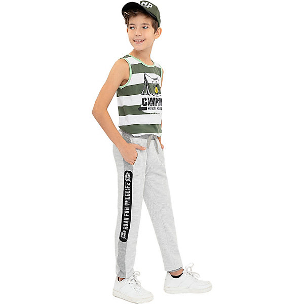 Купить Спортивные брюки Button Blue, Бангладеш, серый, 140, 134, 146, 128, 110, 104, 158, 152, 98, 116, 122, Мужской