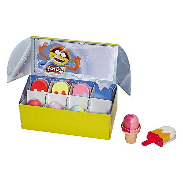 Hasbro Игровой набор Play-Doh Мороженое мороженое и сорбе книга с 40 рецептами 6 формочек для мороженого