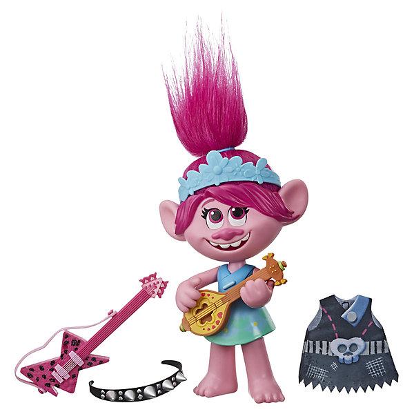 Купить Кукла Trolls World Tour Поющая Розочка, 33 см, Hasbro, Китай, разноцветный, Женский