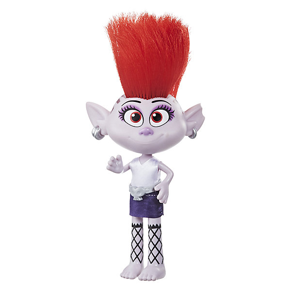 Hasbro Кукла Trolls World Tour Модный тролль Королева Рокс игрушка hasbro trolls большой тролль даймонд