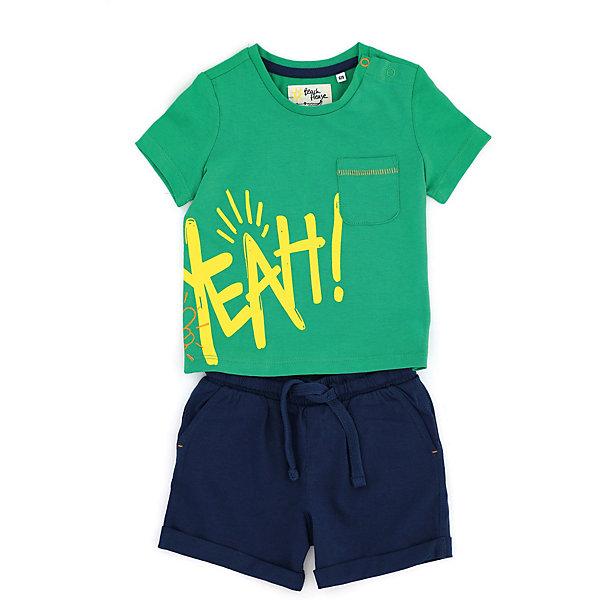 Комплект:футболка, шорты Original Marines, Бангладеш, зеленый, 68, 74, 80, 92, 98, 86, Мужской  - купить со скидкой