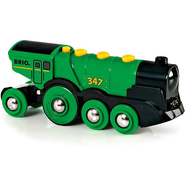 BRIO Локомотив со светом и звуком, зеленый