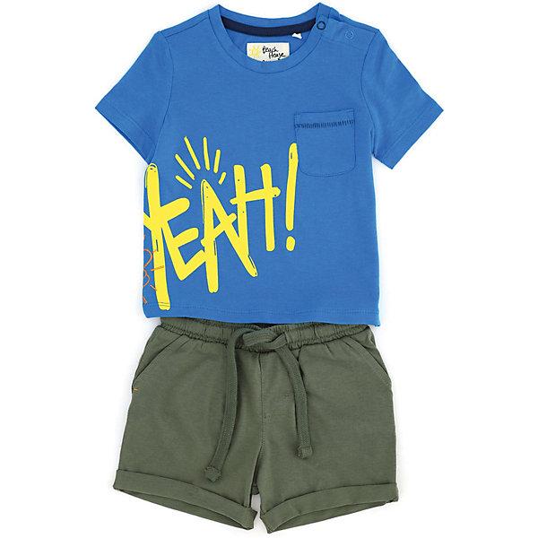 Купить Комплект:футболка, шорты Original Marines, Бангладеш, голубой, 68, 86, 92, 98, 74, 80, Мужской