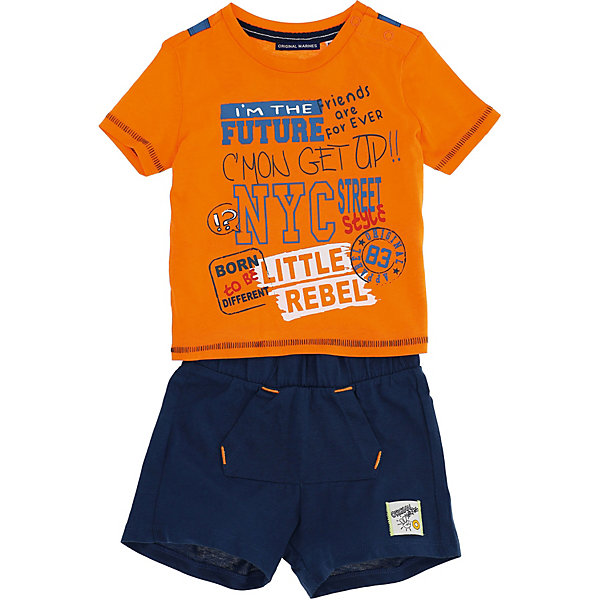 Купить Комплект:футболка, шорты Original Marines, Бангладеш, оранжевый, 74, 92, 68, 86, 98, 80, Мужской