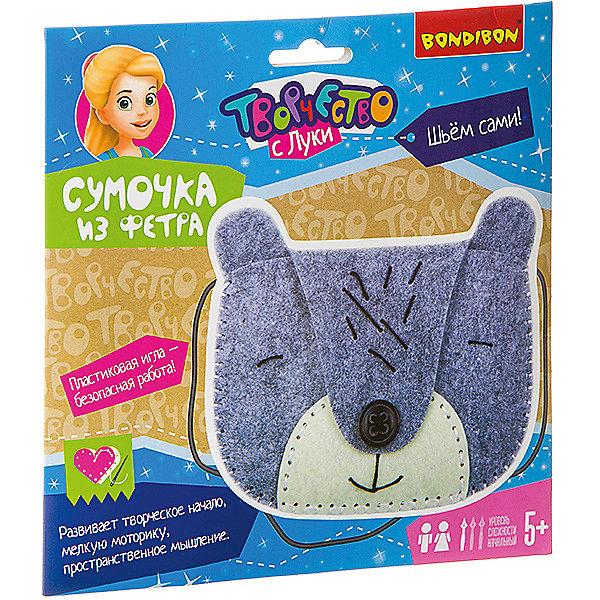 Купить Набор для творчества Bondibon Сумочка из фетра: мишка, Китай, разноцветный, Женский