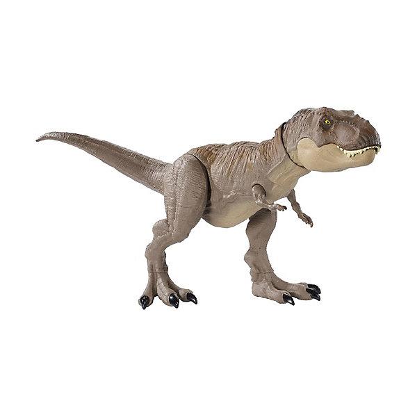 Купить Фигурка динозавра Jurrasic World Свирепый Тираннозавр Рекс, Mattel, Китай, разноцветный, Мужской