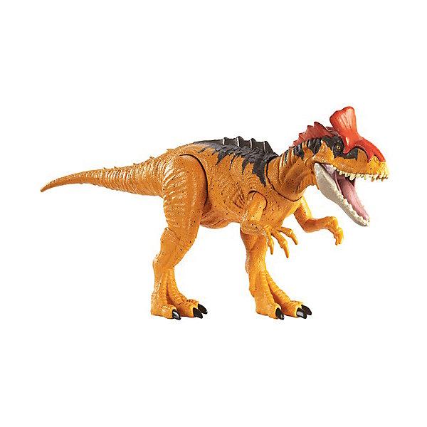 Купить Фигурка динозавра Jurrasic World Primal Attack Рычащие динозавры Криолофозавр, Mattel, Китай, разноцветный, Мужской