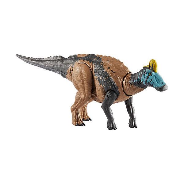 Купить Фигурка динозавра Jurrasic World Primal Attack Рычащие динозавры Эдмонтозавр, Mattel, Китай, разноцветный, Мужской