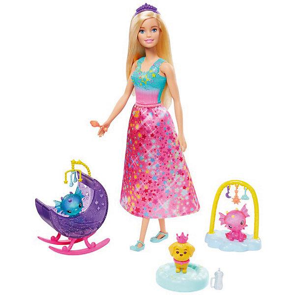 Mattel Игровой набор Barbie Dreamtopia Заботливая принцесса Малыши-питомцы