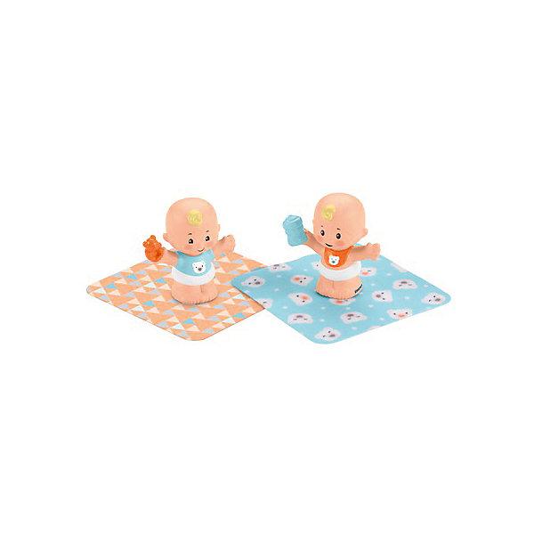 Mattel Игровой набор Fisher-Price Little People Спящие малыши Близнецы-мальчики полевой транзистор fisher price little people