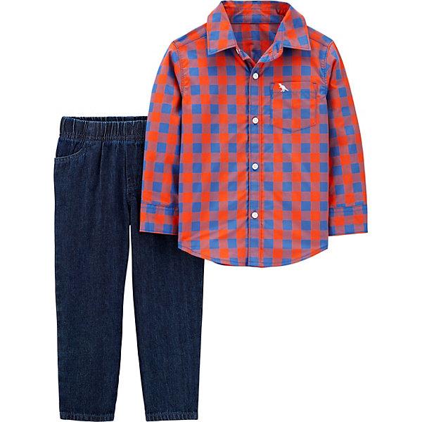 carter`s Комплект Carters: рубашка и джинсы пиджак с отложным воротником b young