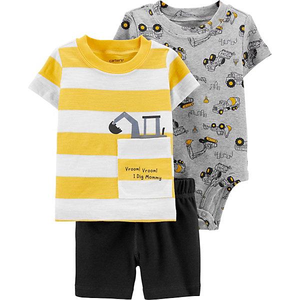 carter`s Комплект Carters: футболка, боди и шорты