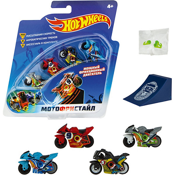 Игровой набор 1Toy Hot Wheels Мотофристайл, 8 предметов 14224502