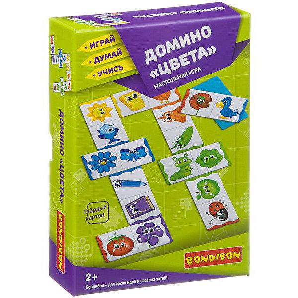 Bondibon Домино Bondibon Цвета classic игра настольная classic домино пластик st023