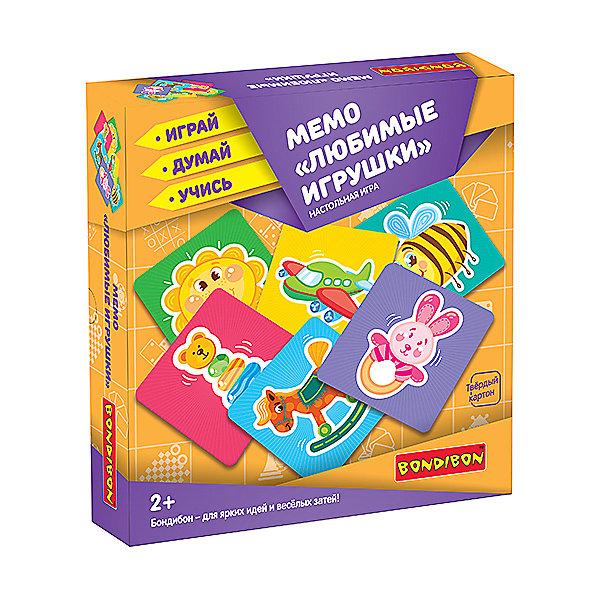 Bondibon Настольная игра Bondibon Мемо Любимые игрушки шпаргалки для мамы настольная игра мемо 1