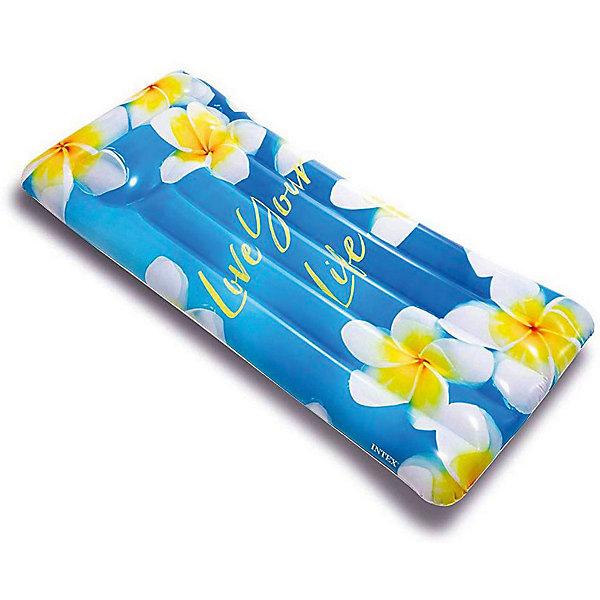 Intex Надувной матрас Intex Вдохновение. Цветы надувной матрас intex 183x69cm 59720