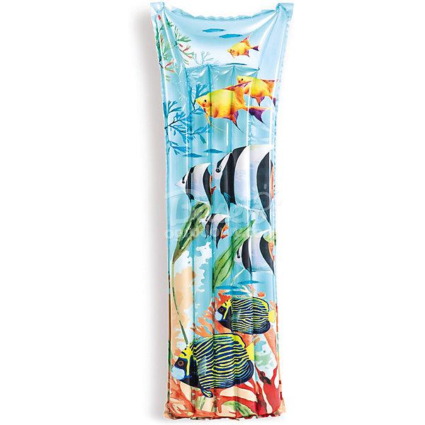 Intex Надувной матрас Intex Отдых. Рыбы надувной матрас intex 183x69cm 59720