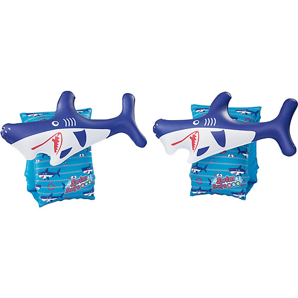 Bestway Нарукавники для плавания Рыбки. Синие акулы