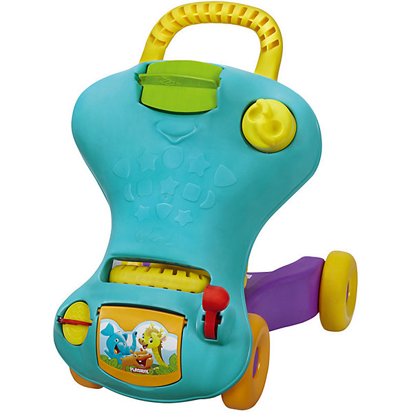 Hasbro Ходунок-каталка 2 в 1 PLAYSKOOL, синий цена