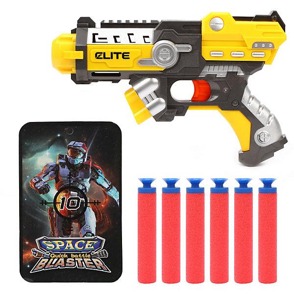 Бластер Наша Игрушка Space Blaster, с мягкими пулями, Китай, разноцветный, Мужской  - купить со скидкой