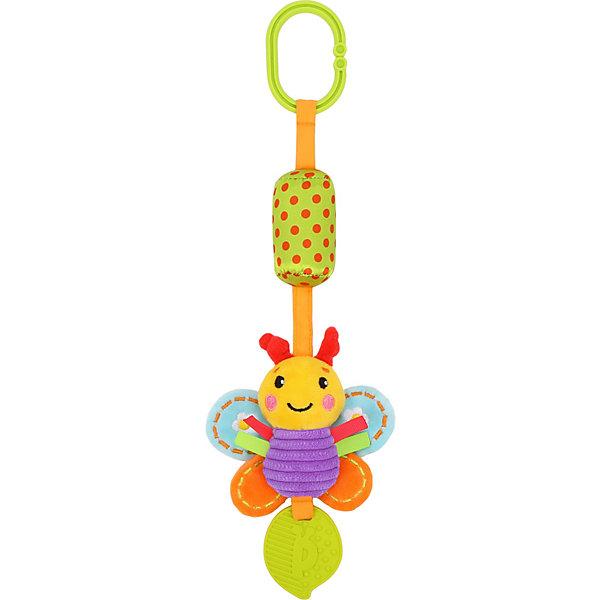 Жирафики Игрушка-подвеска Жирафики Бабочка, с колокольчиком и прорезывателем игрушки для ванны жирафики игрушка для купания дельфин светящийся