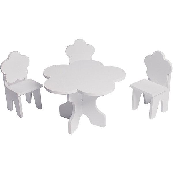 Купить Набор кукольной мебели Paremo Цветок , 4 предмета, Китай, белый, Женский